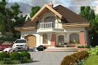 projekt domu Dzierlatka z garażem 1-st. A