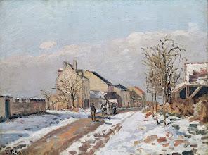"""Photo: Camille Pissarro, """"La strada da Gisors a Pontoise"""""""