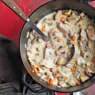 Chicken and Mushroom Stew with Wild Rice.