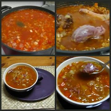 Vegetable Farm Soup With Ham Hocks Recipe