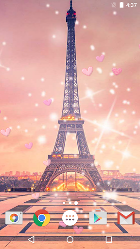 ロマンチックなパリ ライブ壁紙