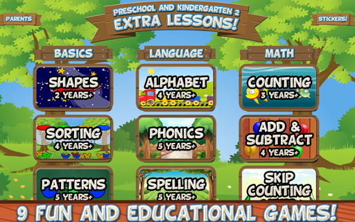 Preschool and Kindergarten 2: Extra Lessons android2mod screenshots 1
