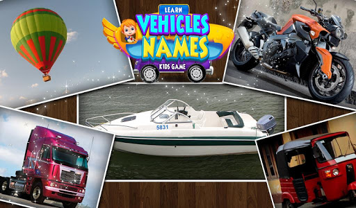 Learn Vehicles Names Kids Game