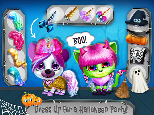 Kiki & Fifi Halloween Salon - Scary Pet Makeover 3.0.25 screenshots 23