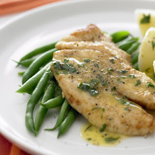 Butter Fried Fish with Lemon Butter Sauce.