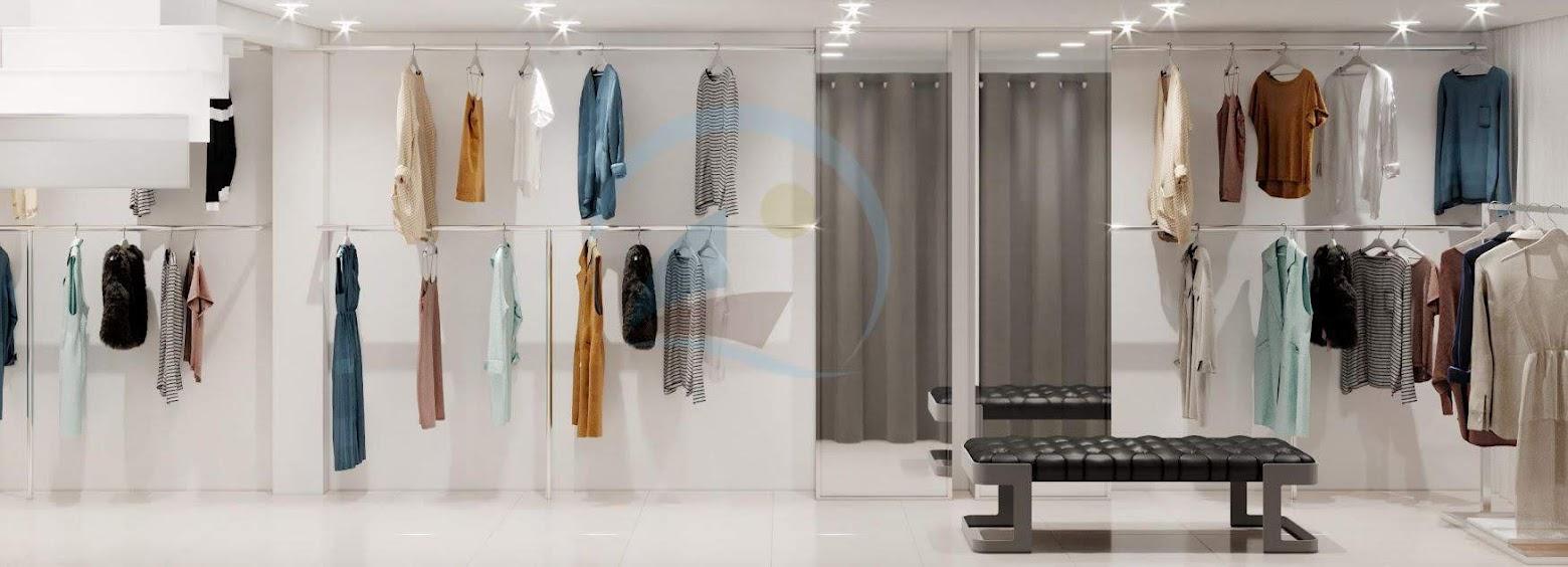 thiết kế giá kệ thời trang