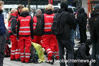 Photo: Die DemosanitäterInnen waren einsatzbereit.