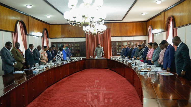 The Cabinet during a meeting at State House, Nairobi, September 12, 2019.
