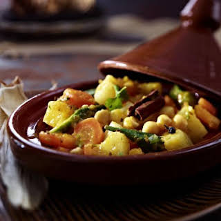 Mixed Vegetable and Chickpea Curry.