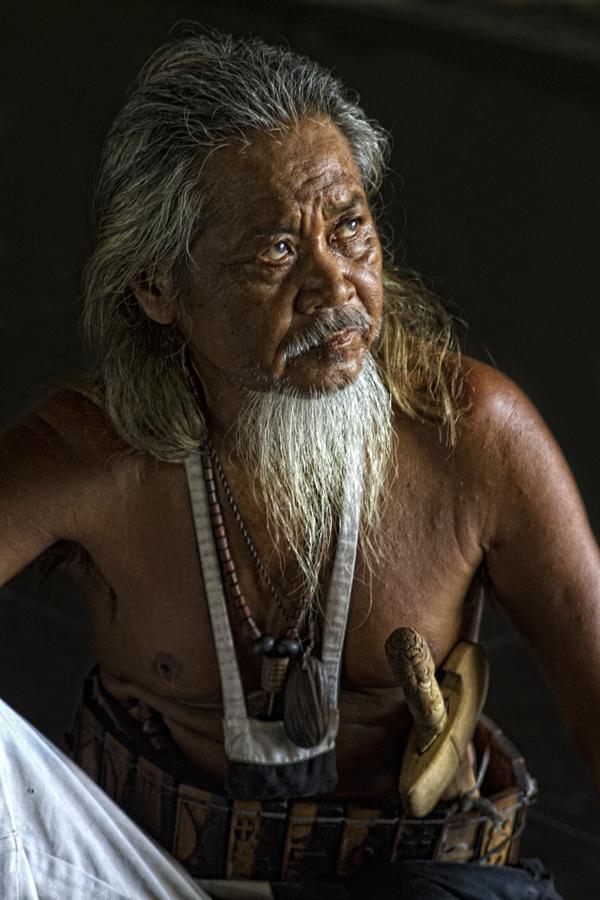 Oldman from Dayak Losarang by Ari Wid - People Portraits of Men ( old, indonesia, west java, oldman, losarang, dayak )