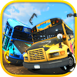 School Bus Demolition Derby Icon