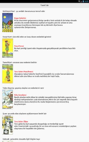 android Ücretsiz Tarot Falı - Falcınız Screenshot 1