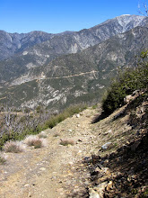 Photo: View north as the firebreak skirts a highpoint on my descending ridge route