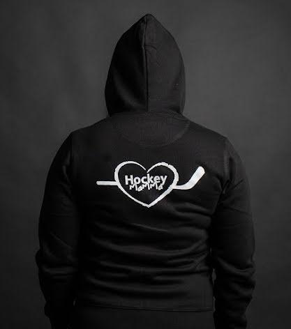 Hoodie - Hockeymamma - svart