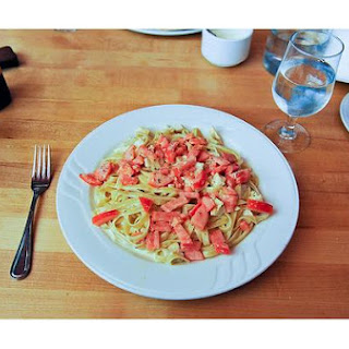 Fettucini Alfredo With Tomatoes
