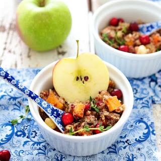 Quinoa Stuffing with Apple, Sweet Potato & Hazelnuts