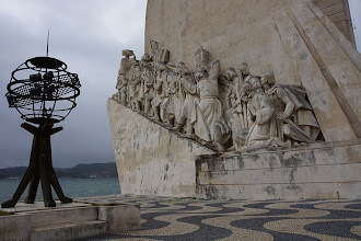"Photo: ""Monument to the Discoveries"" by architect Continelli Telmo and sculptor Leopoldo de Almeida in Lisbon, Portugal.  http://en.wikipedia.org/wiki/Padrao_dos_Descobrimentos"