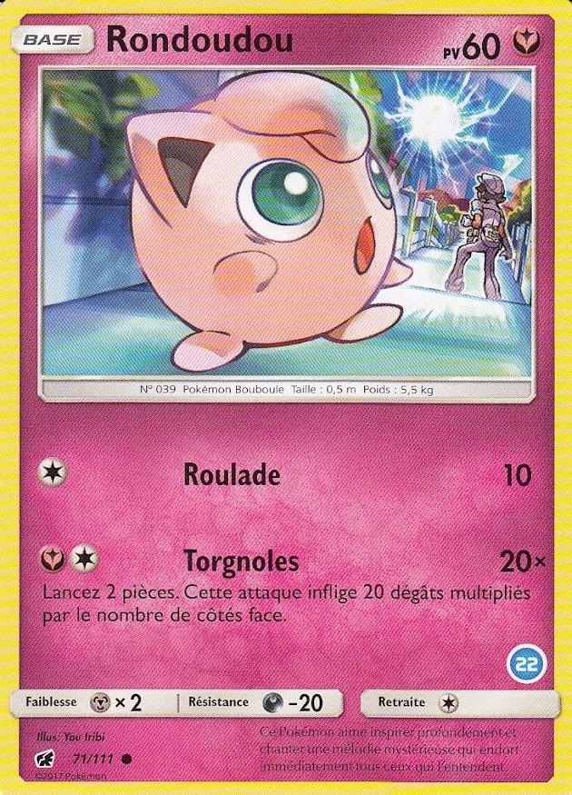 6//30 Carte Pokemon Neuve Française Ortide SL00:Kit Sablaireau/&Feunard