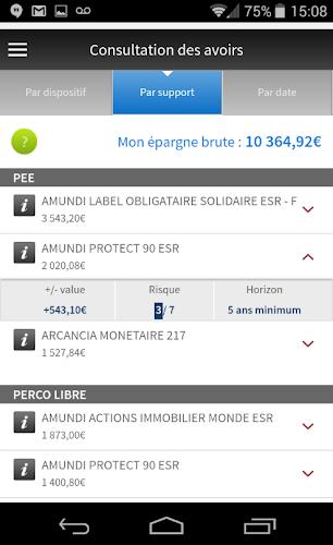 L'appli ESALIA Android App Screenshot