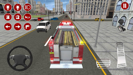 Real Fire Truck Driving Simulator: Fire Fighting apkmr screenshots 1