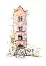 Photo: Semur en Auxois - Pink House