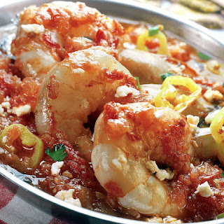 Shrimps In Tomato Sauce.