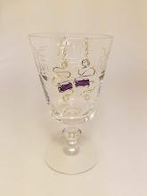 Photo: Purple Beaded Earrings by NW Artist Jana Cooper http://www.janacooperjewelry.com/