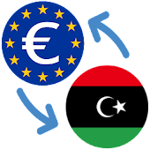 Euro to Libyan dinar / EUR to LYD Icon