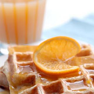 Orange Waffles With Orange Sauce