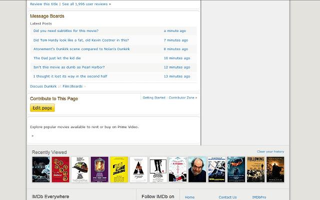 Forum Addon for IMDb