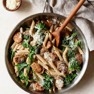 Whole Wheat Pasta with Broccoli and Chicken Sausage.