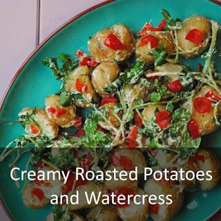 Roasted Creme Fraiche Potatoes with Watercress Recipe