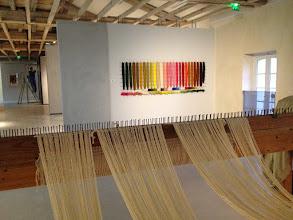 Photo: Le mur de laine vu depuis le métier