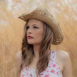 Beauty with a Hat by Chantelle Du Toit - People Portraits of Women ( #nikon #love #cowgirl #sassy #beauty,  )
