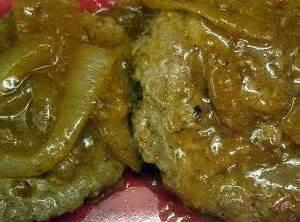 Hamburger Steak & Onion Gravy Recipe