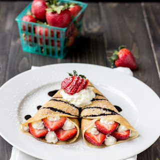 Sichuan Peppercorn Strawberry Crepes with Star Anise Balsamic Reduction.