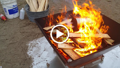 Video: Michael Wittman adds a retort full of pistachio shells to a pyramid kiln.