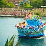 the main show on the inner lake at Tokyo DisneySea in Urayasu, Tiba (Chiba) , Japan