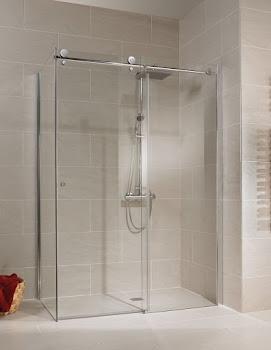 Porte de douche coulissante avec paroi latérale