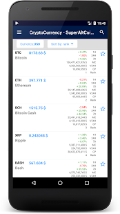 CryptoCurrency - Bitcoin price, Ticker, Widget - náhled