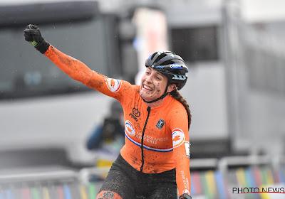 Spanning valt van Lucinda Brand haar schouders na het behalen van wereldtitel