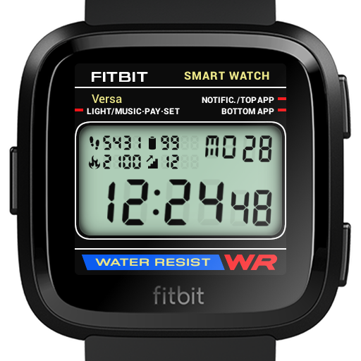 Classic Digital Faces - Watchface for Fitbit Versa