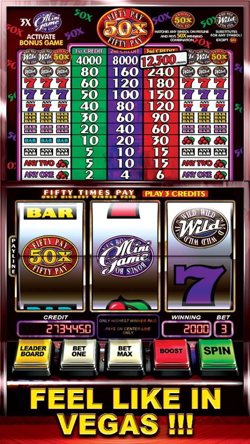 50 pay slots