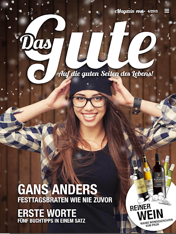 "android real, - e-magazine ""Das Gute"" Screenshot 0"