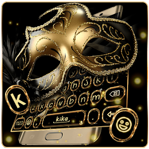 Behind The Mask Glitter Free Emoji Theme