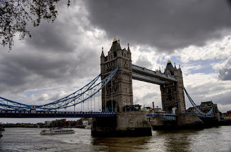 Photo: Tower Bridge as a storm rolls in