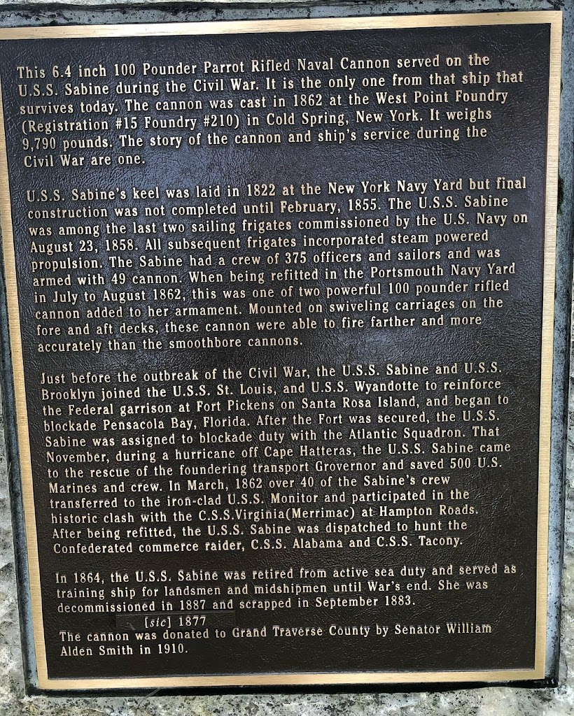 Read the Plaque - Parrot Rifled Naval Cannon