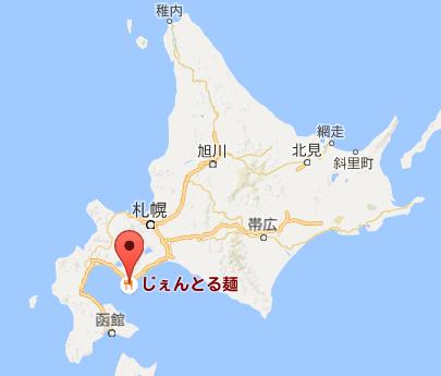 地図:ジェントル麺 中島店