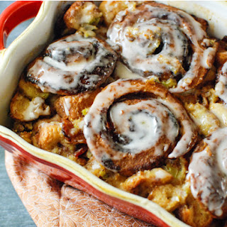 Cinnamon Roll Stuffing with Bacon