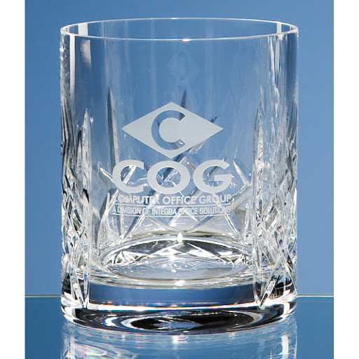 95cm Lead Crystal Panel Whisky Tumbler